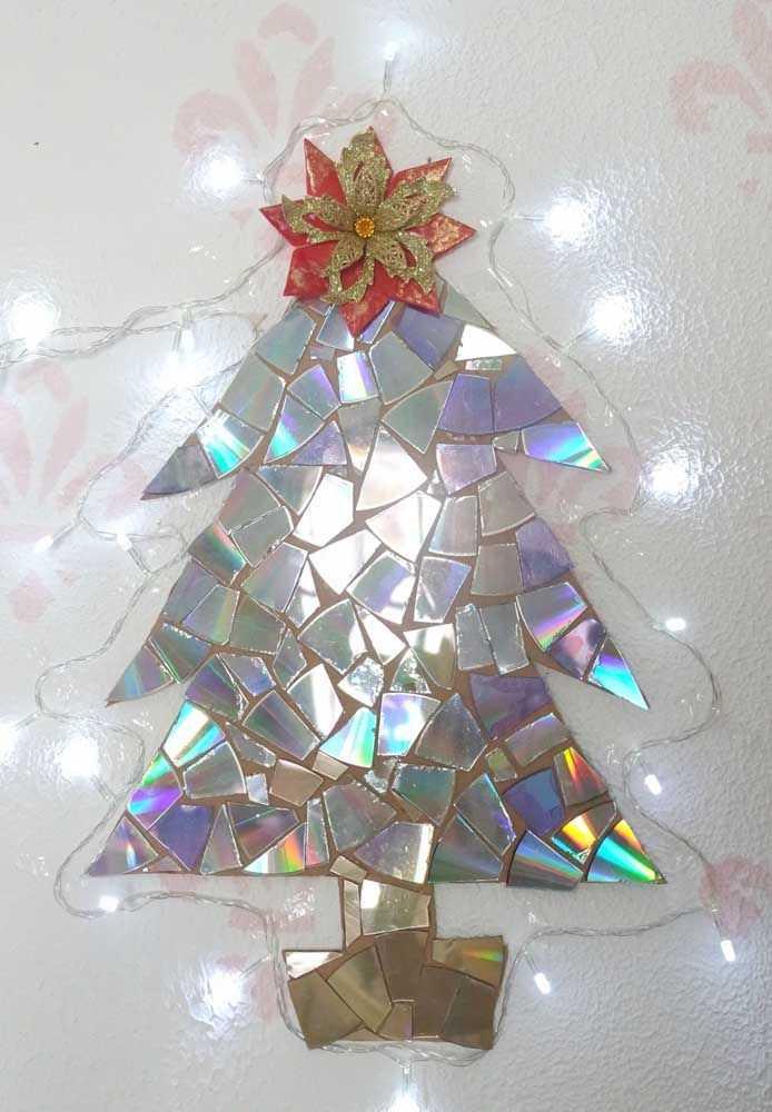 image4-27   Новогодние украшения из ненужных компакт-дисков