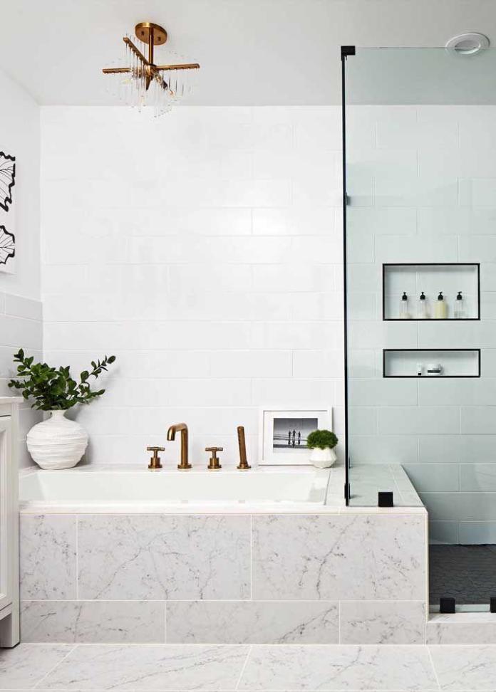 image28-7   Вдохновляющие идеи для маленьких ванных комнат