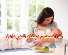 سال اول زنده گی نوزادن روز ۳۴/ غذا صحی هنگام شیر دادن