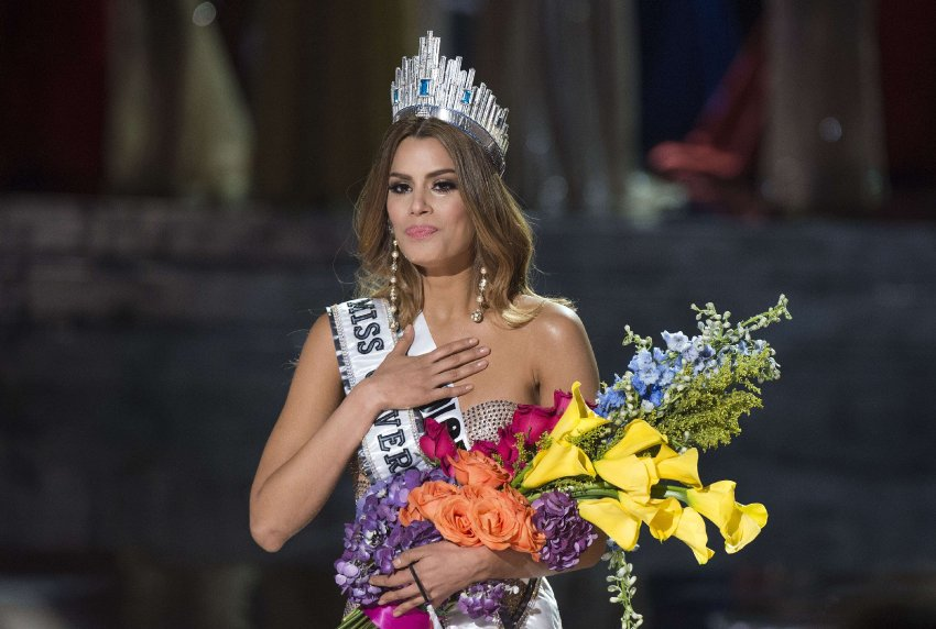 Miss Colombia Ariadna Gutierrez is mistakenly crowned Miss Universe 2015 during the 2015 MISS UNIVERSE show at Planet Hollywood Resort & Casino, in Las Vegas, California, on December 20, 2015. Miss Philippines Pia Alonzo Wurtzbach was named Miss Universe, but in a drama-filled turn worthy of a telenovela. The pageant's host comedian Steve Harvey, also a talk show host, misread the card which he said had Miss Colombia Ariadna Gutierrez as the winner. AFP PHOTO / VALERIE MACON