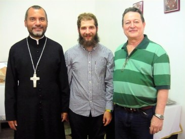 With Father Alexander and señor Carlos