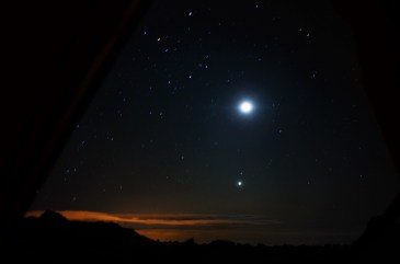 For 4 nights I was the highest sleeping human of the Earth. Closest to the stars than anybody else! And no, I am not in Everest, I am in Mount Chimborazo, Ecuador ( http://tinyurl.com/tadatadaaa). This is the view from inside my tent!!