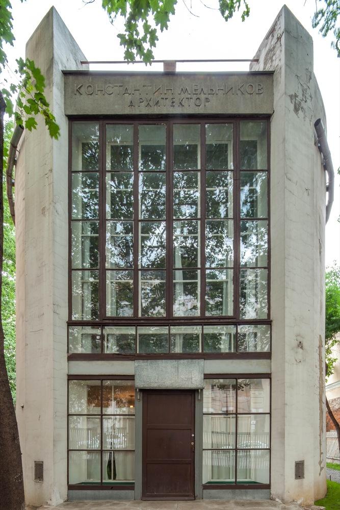Melkinov House girişi   Dök Mimarlık