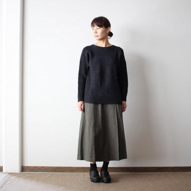 PO knit M wool95% cotton5% #black