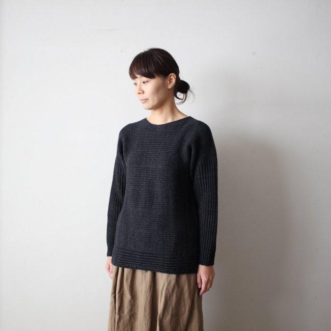 tamaki niime | 玉木新雌 PO knit M wool95% cotton5% #black