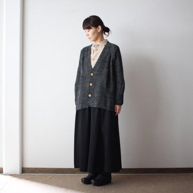 CA knit wool95% cotton5% #black