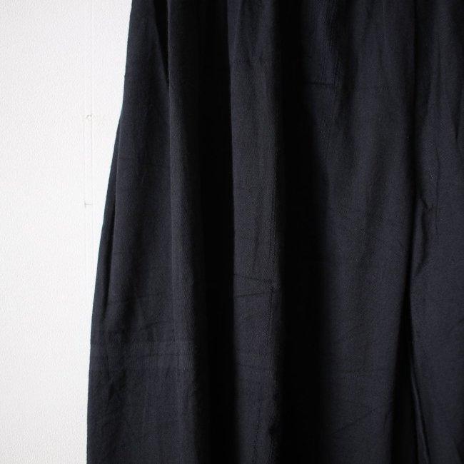 basic wide pants LONG #black