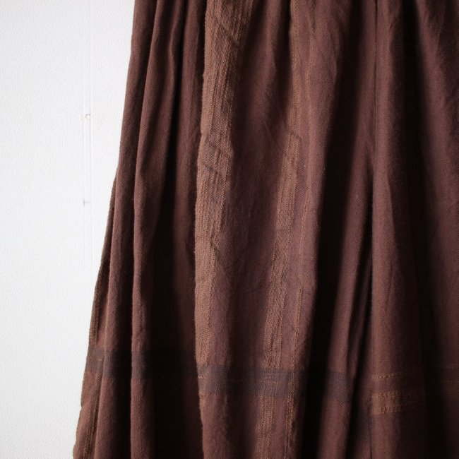 basic wide pants LONG #brown