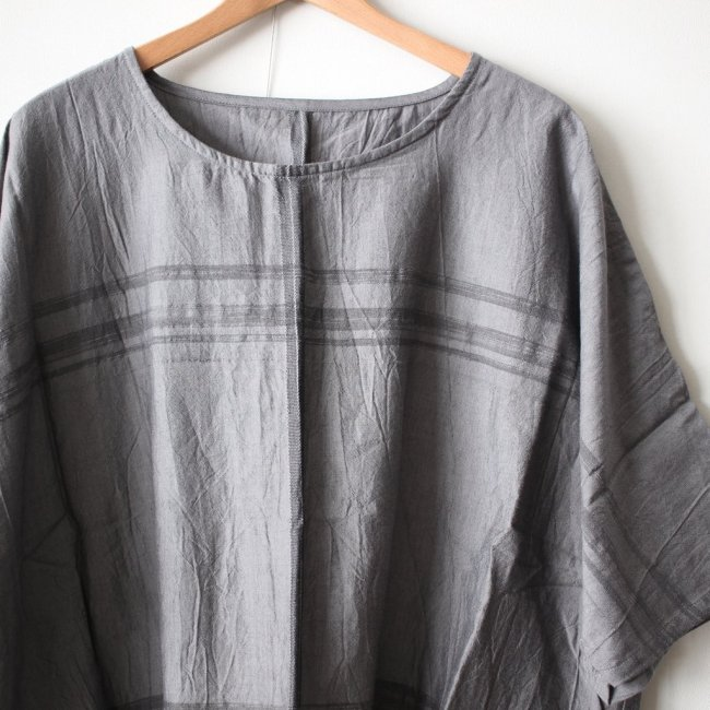 basic fuwa-T HALF SLEEVES #gray