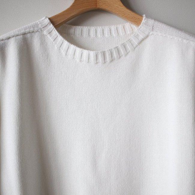 居間着 甲 Knit L/S #white