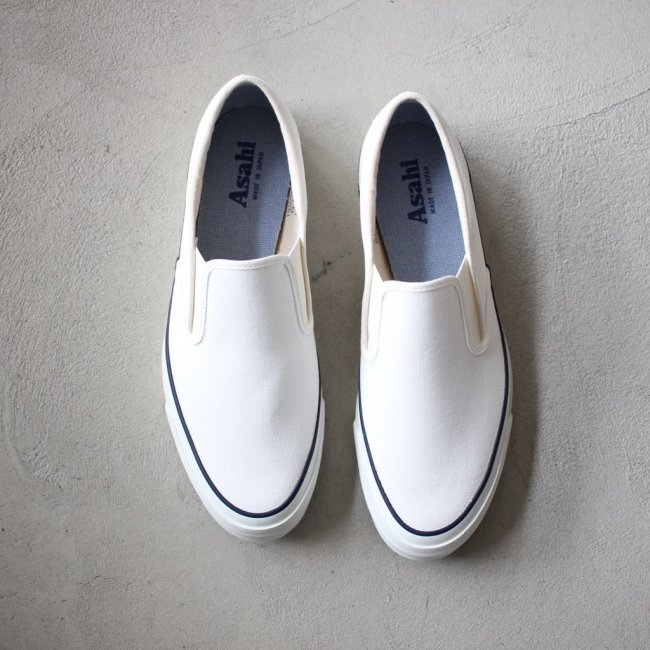 ASAHI DECK SLIP-ON #white レディース