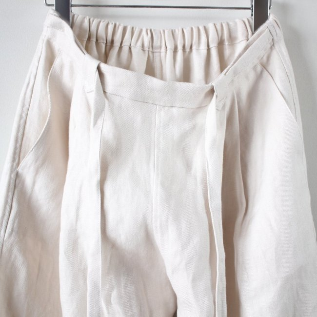 TUCKED WIDE PANTS #ivory