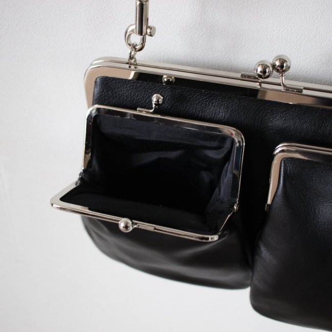 ガマ口 SHOULDER BAG #black