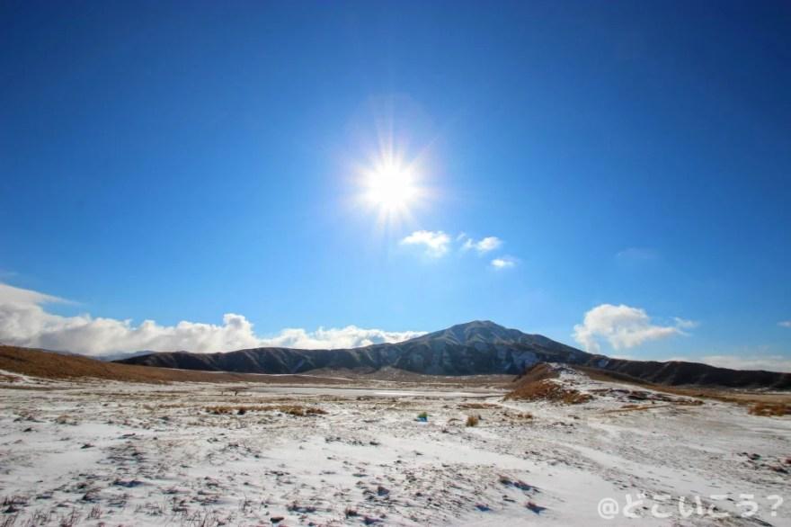 冬の草千里ヶ浜