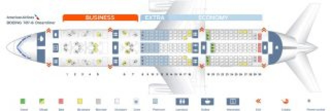Seat Map Boeing 787 Dreamliner American Airlines