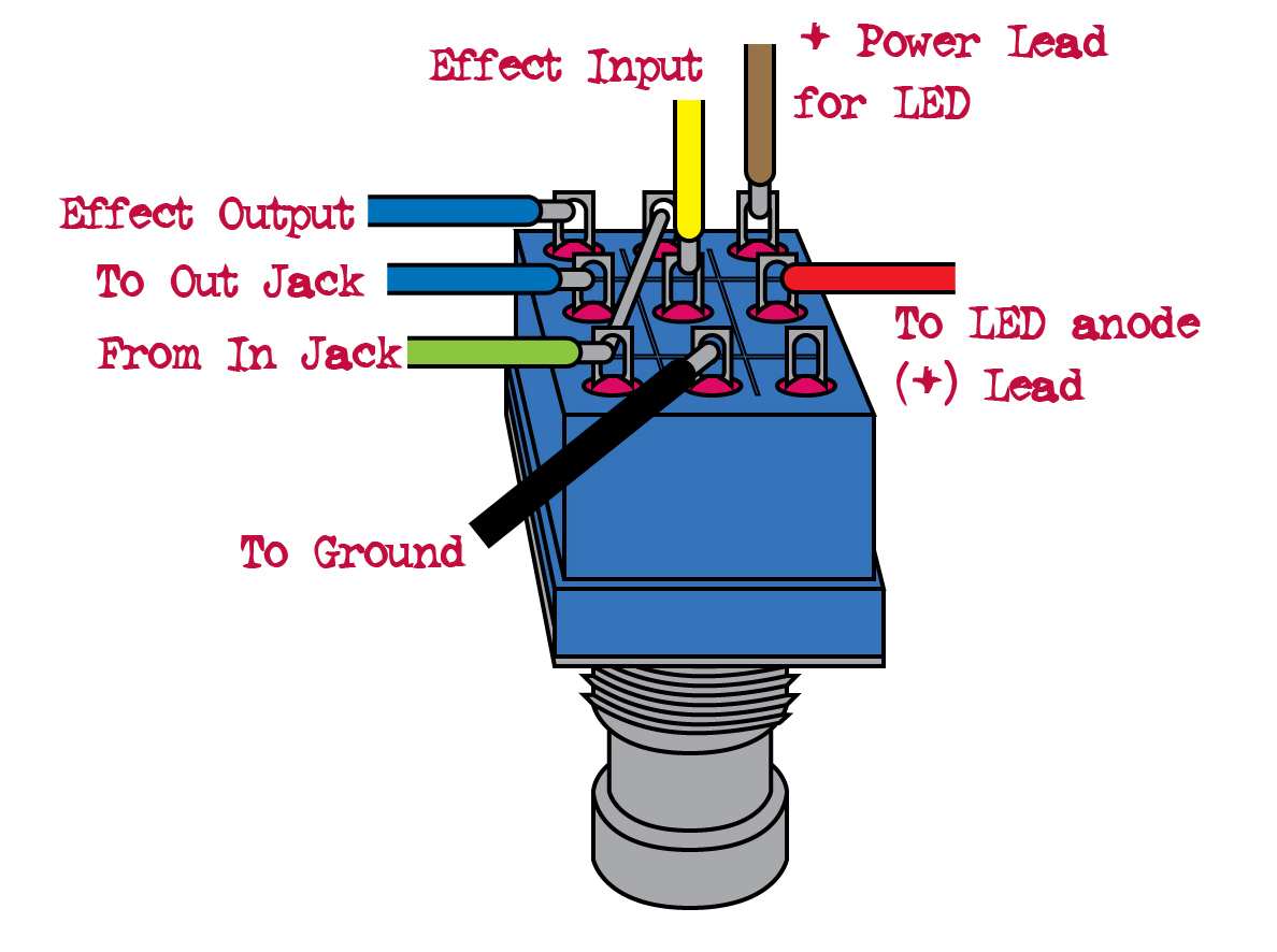 Diagram On How To Wire 3pdt Footswitch