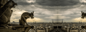 demons overlooking city