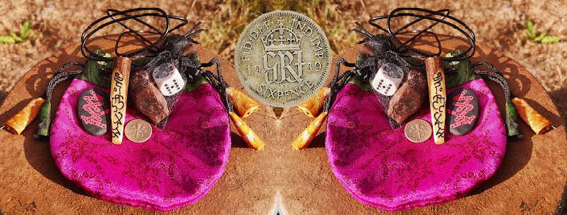halloween ancestors lucky spellbag sixpence