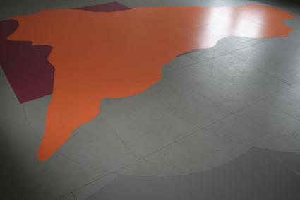 Fußbodenfarbfleck