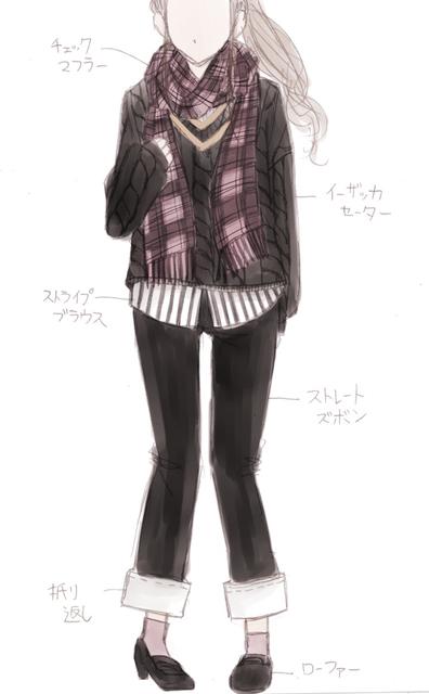 セーター黒&ズボン黒&マフラーピンク.jpg