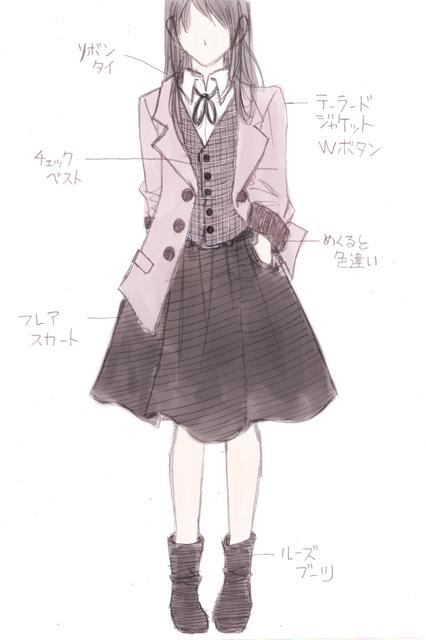 チェックベストピンク&フレアスカート黒.jpg