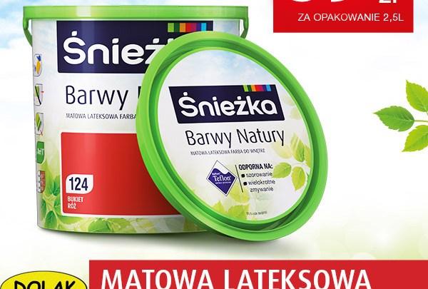MATOWA LATEKSOWA FARBA DO WNĘTRZ