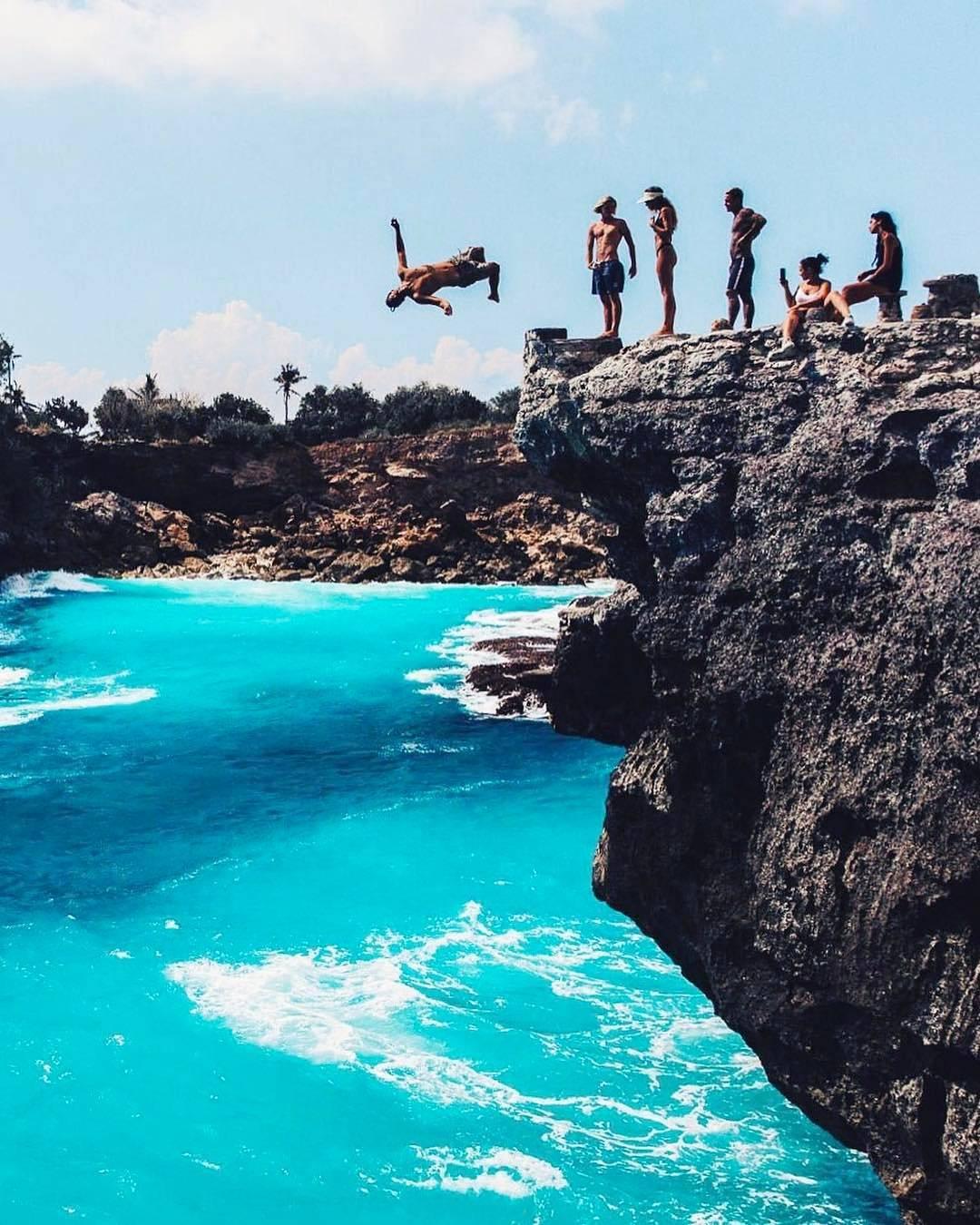 Cliff Jump, Nusa Ceningan, Klungkung, Bali