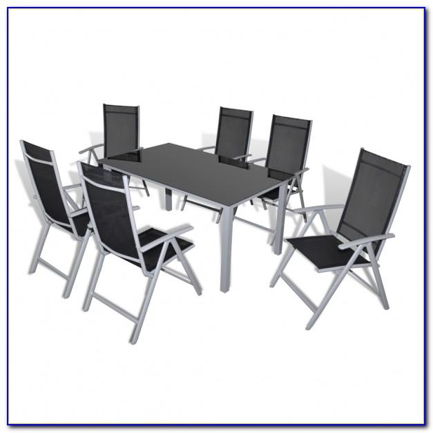 Alu Gartenmöbel Set Runder Tisch