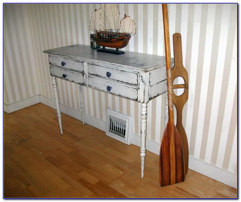Antik Look Möbel Weiß