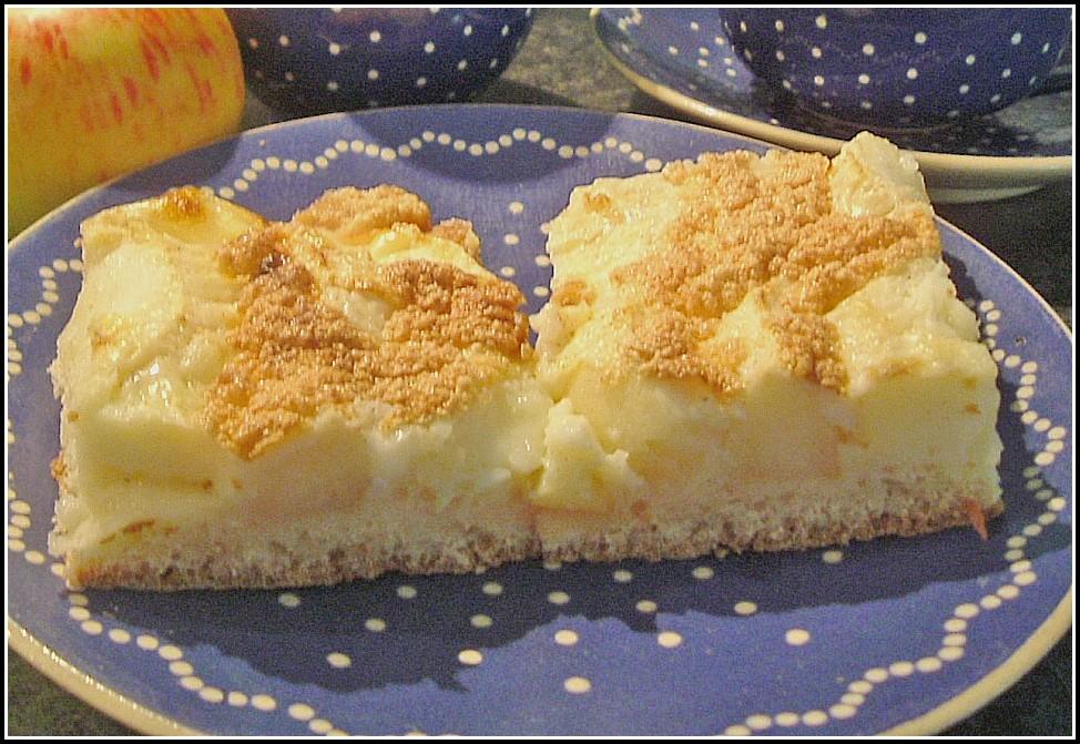 Apfel Blechkuchen Mit Streusel