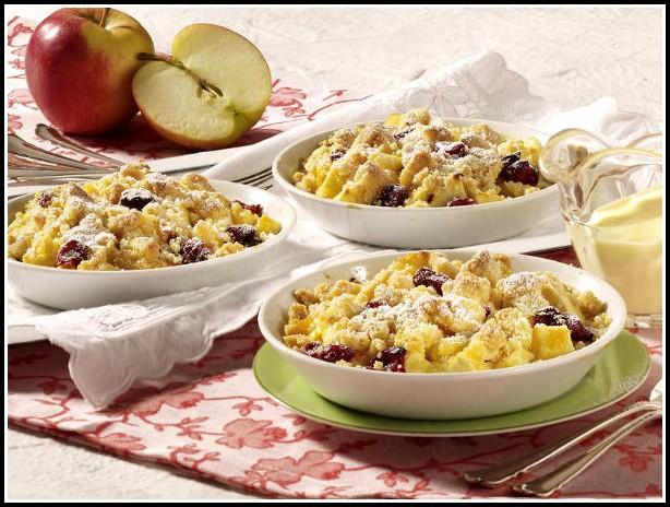 Apfel Kirsch Pudding Kuchen