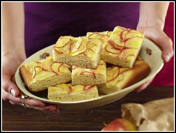 Apfel Marzipan Kuchen Backen
