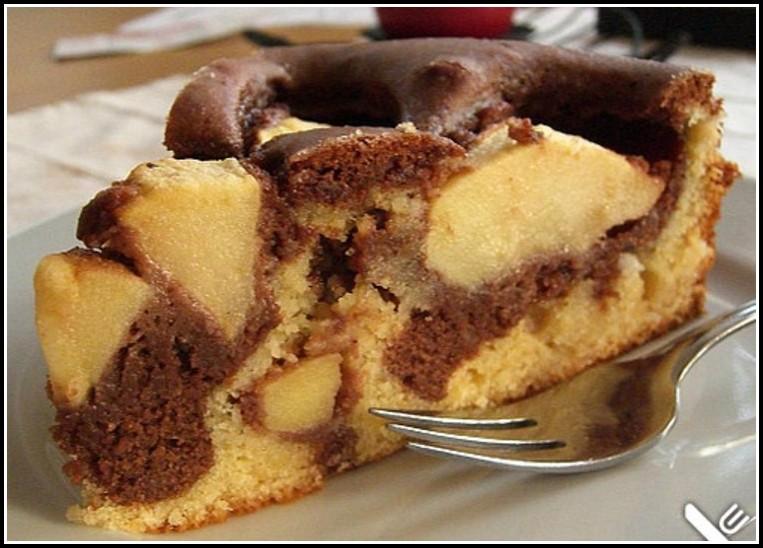 Apfel Marzipan Kuchen Mürbeteig