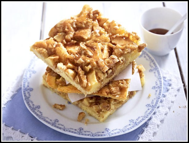 Apfel Pudding Kuchen Vegan