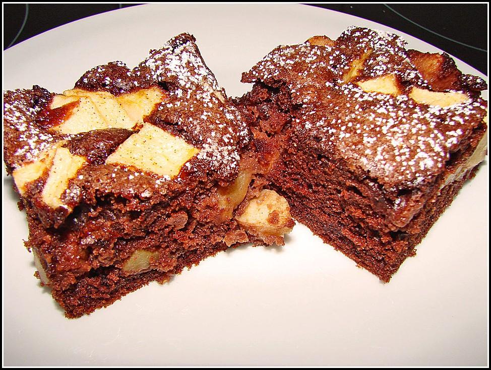 Apfel Schoko Kuchen Vom Blech