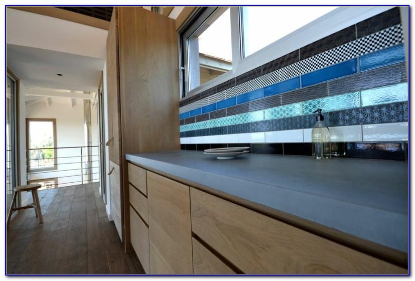 Arbeitsplatte Blau Küche