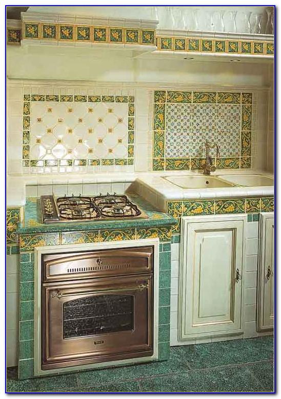 Arbeitsplatte Grün Küche