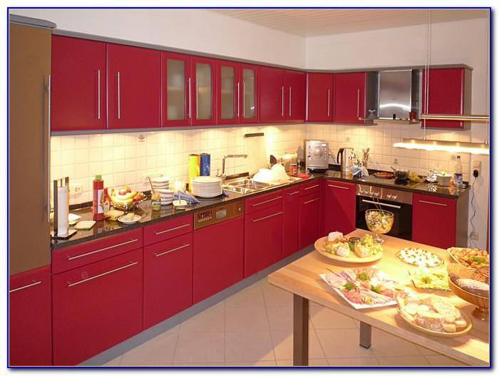 Arbeitsplatte Küche Rot