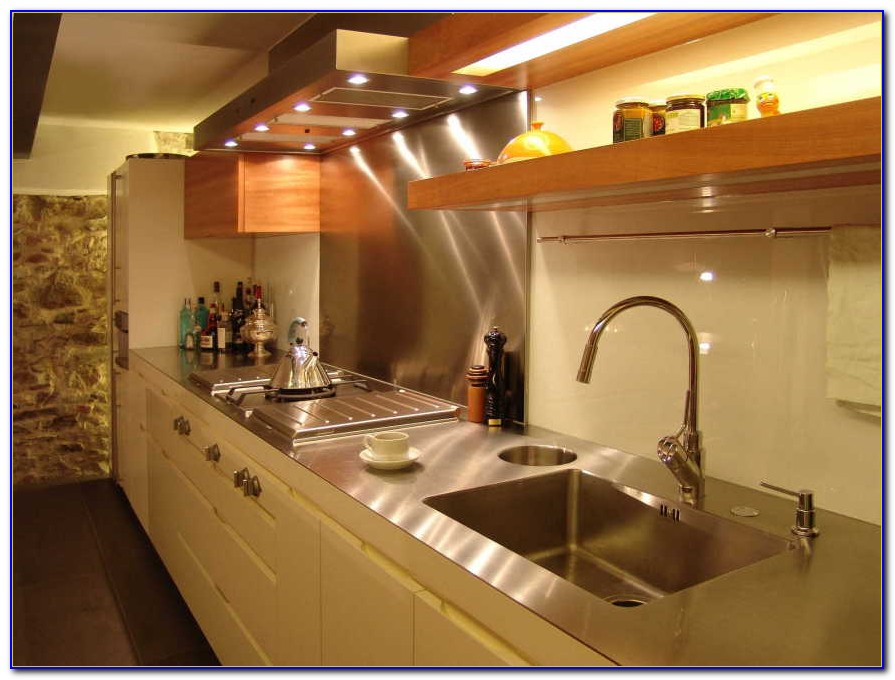 Arbeitsplatten Küche Edelstahl