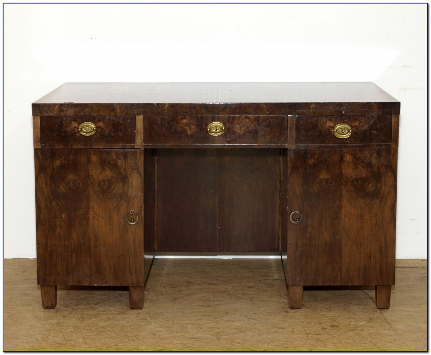 Art Deco Schreibtisch Halbrund