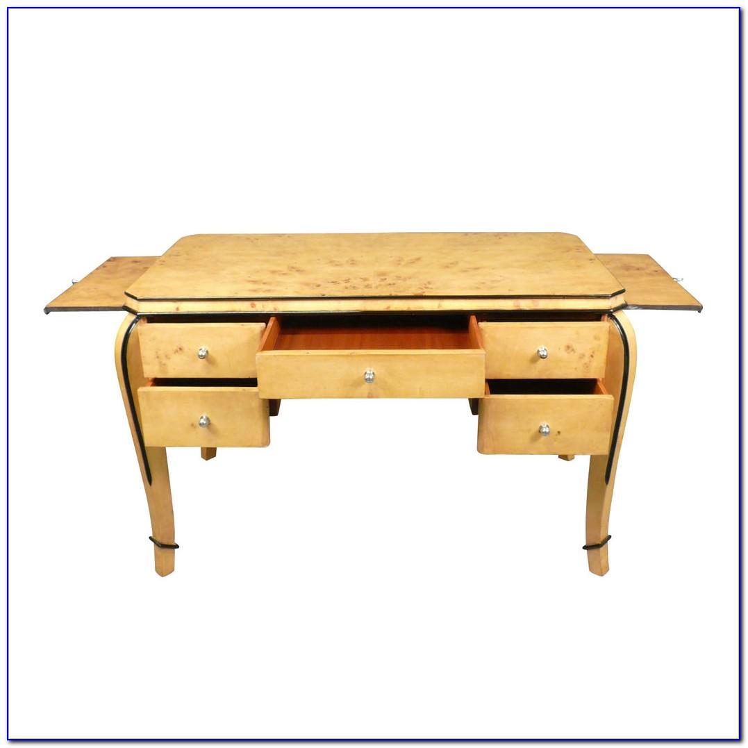 Art Deco Schreibtisch Schwarz