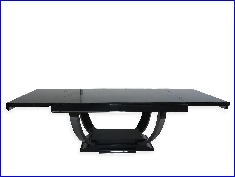 Art Deco Tisch Schwarz