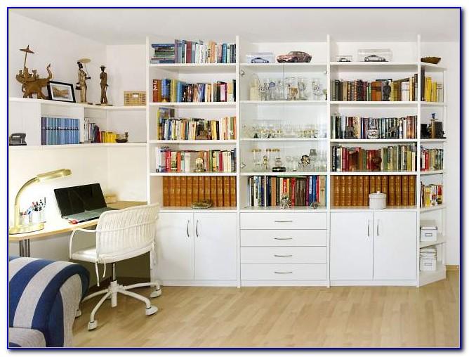 Bücherregal Mit Integriertem Schreibtisch