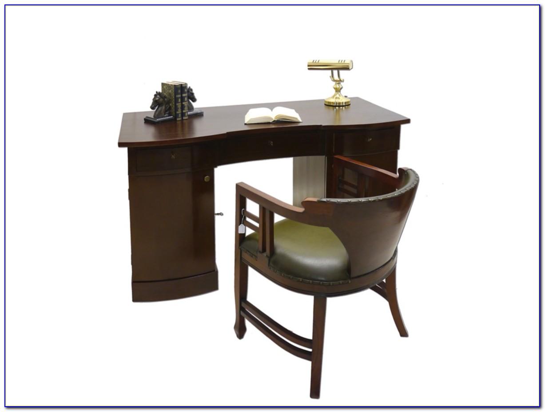 Büromöbel Schreibtisch Nussbaum