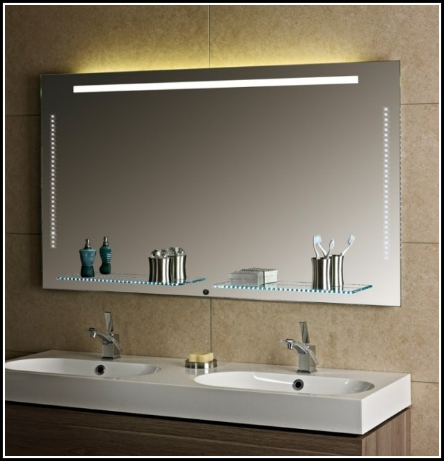 badezimmerspiegel mit led beleuchtung 3d effekt  dolce