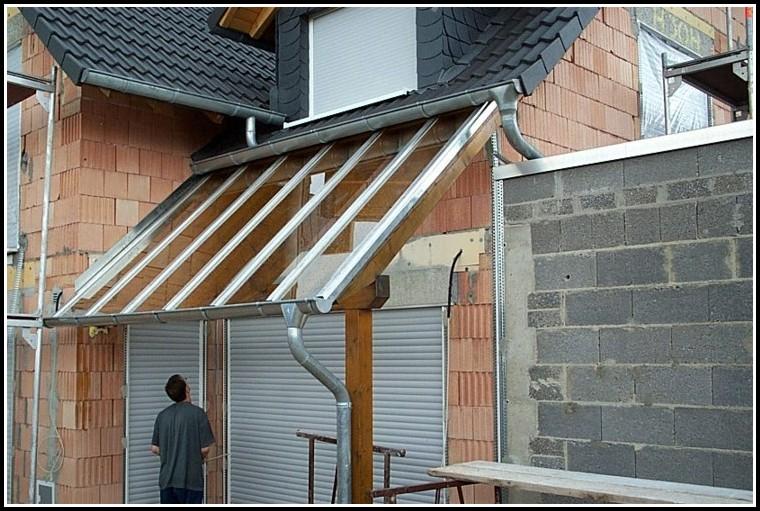 Balkonüberdachung Holz Glas