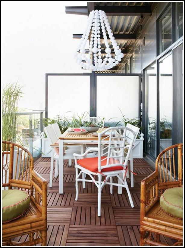 Balkon Bodenbelag Holzoptik