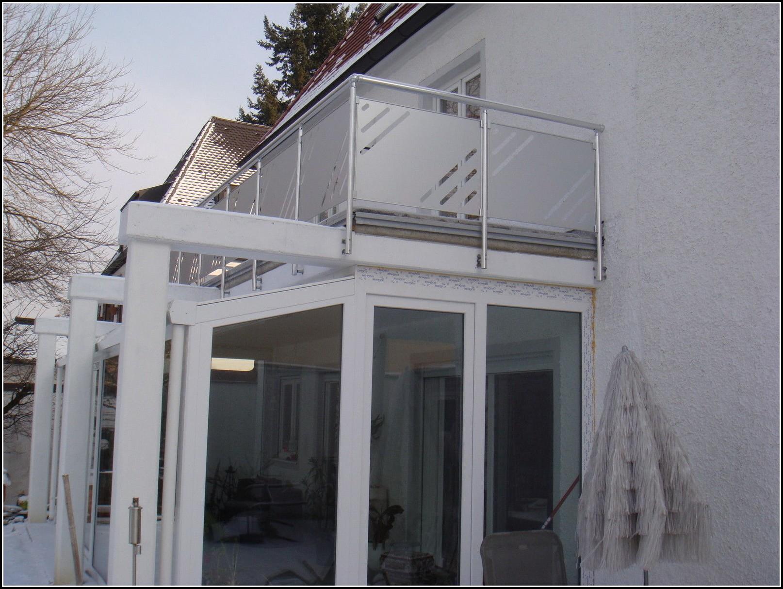 Balkon Sichtschutz Glas Edelstahl Dolce Vizio Tiramisu