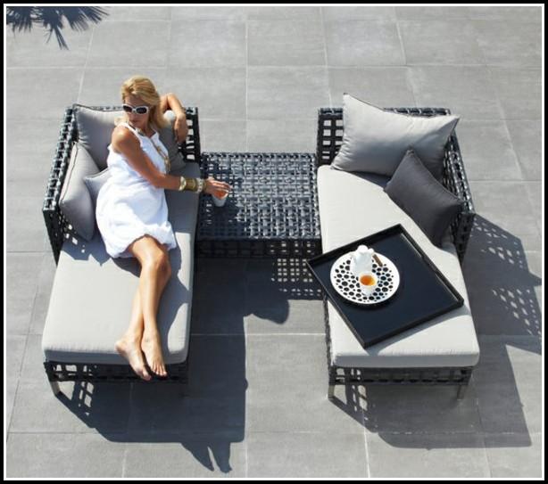 Balkon Lounge Möbel Holz