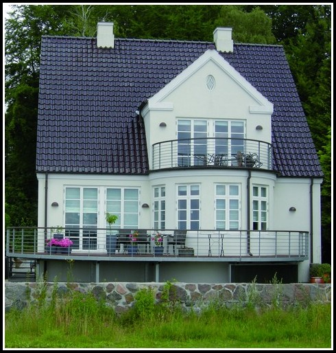 Balkon Mit Treppe Holz